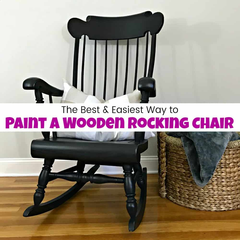 Best Place To Buy Rocking Chairs How To Paint A Wooden Rocking Chair With Spindles The Easy Way