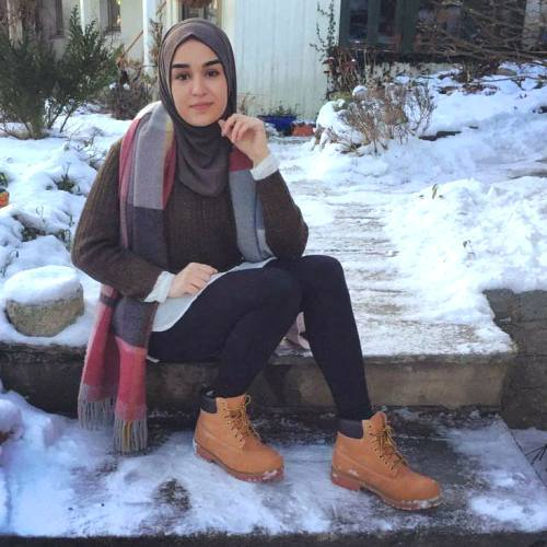 Smart Casual Casual Brownish Outfits With Hijab | | Just Trendy Girls