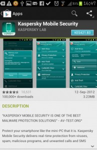 Kaspersky Mobile Security Mugshot Feature Google Play Store