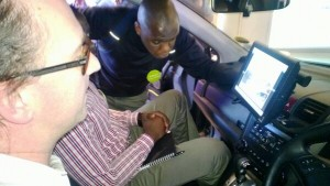 Nevilla from Nokia HERE explains the HERE Mapping using a car to @mwirigi juuchini