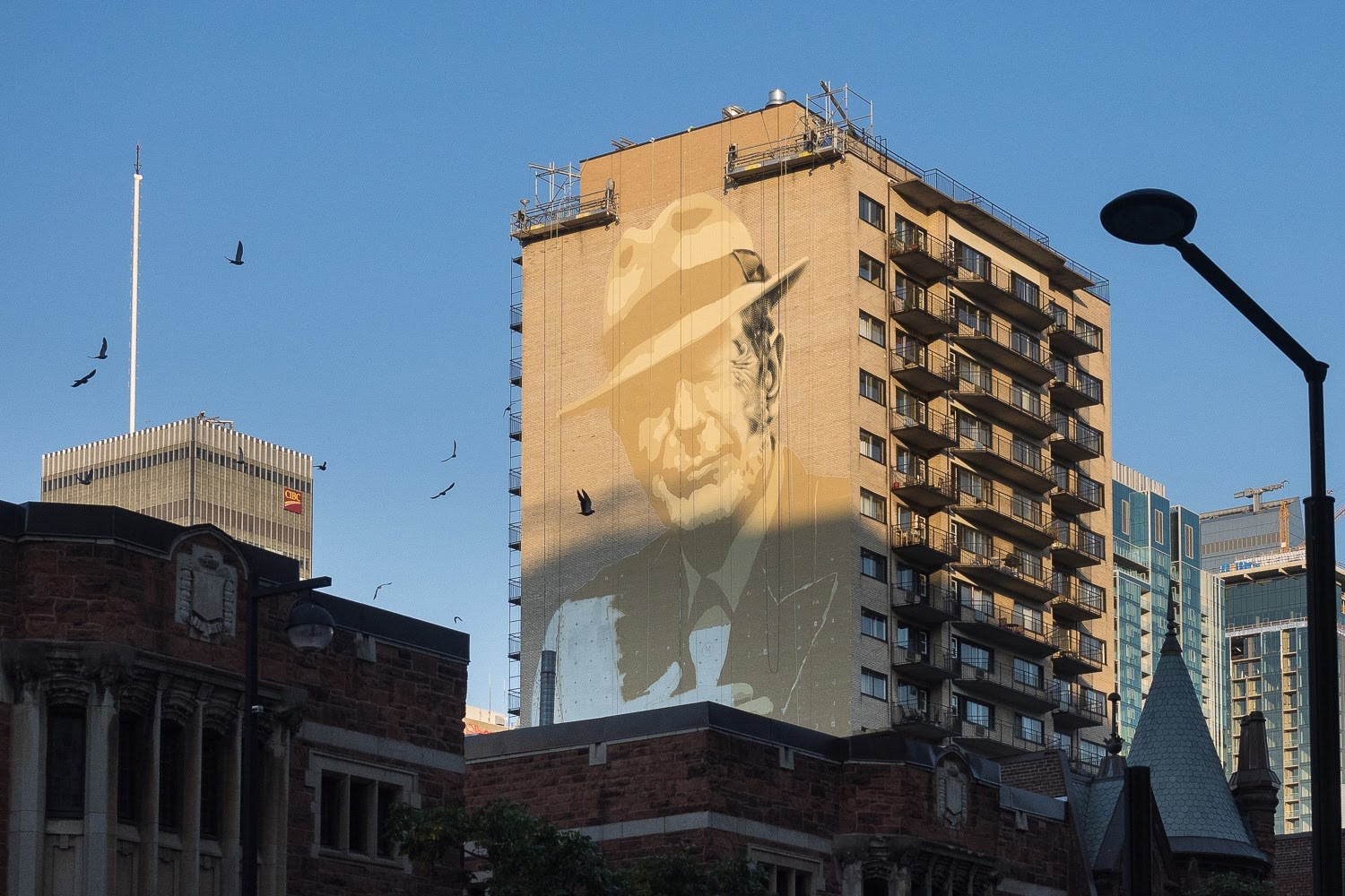 Pop Up Book Fair Montreal Juxtapoz Magazine Leonard Cohen Mural By El Mac In Montreal