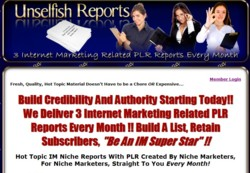 UnselfishReports.com Membership Pays 75% Recurring Affiliate Commissions For 20 Months