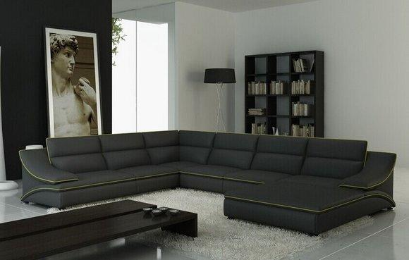Couch Leder Xxl Big Ecksofa Modell A1160b In Top-qualität In Design