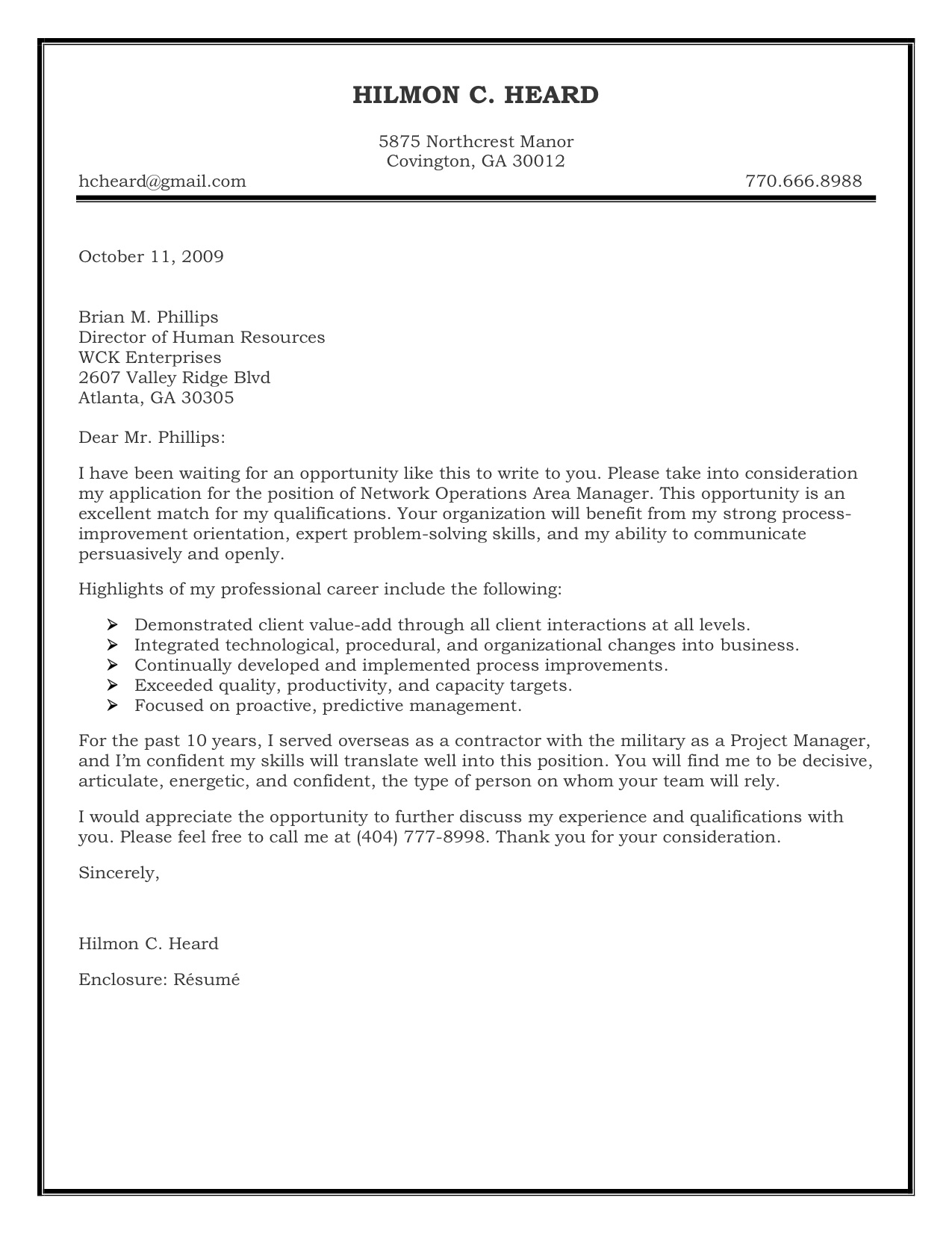 Example Of Coverletter Cover Letter Example Journal Online Resume
