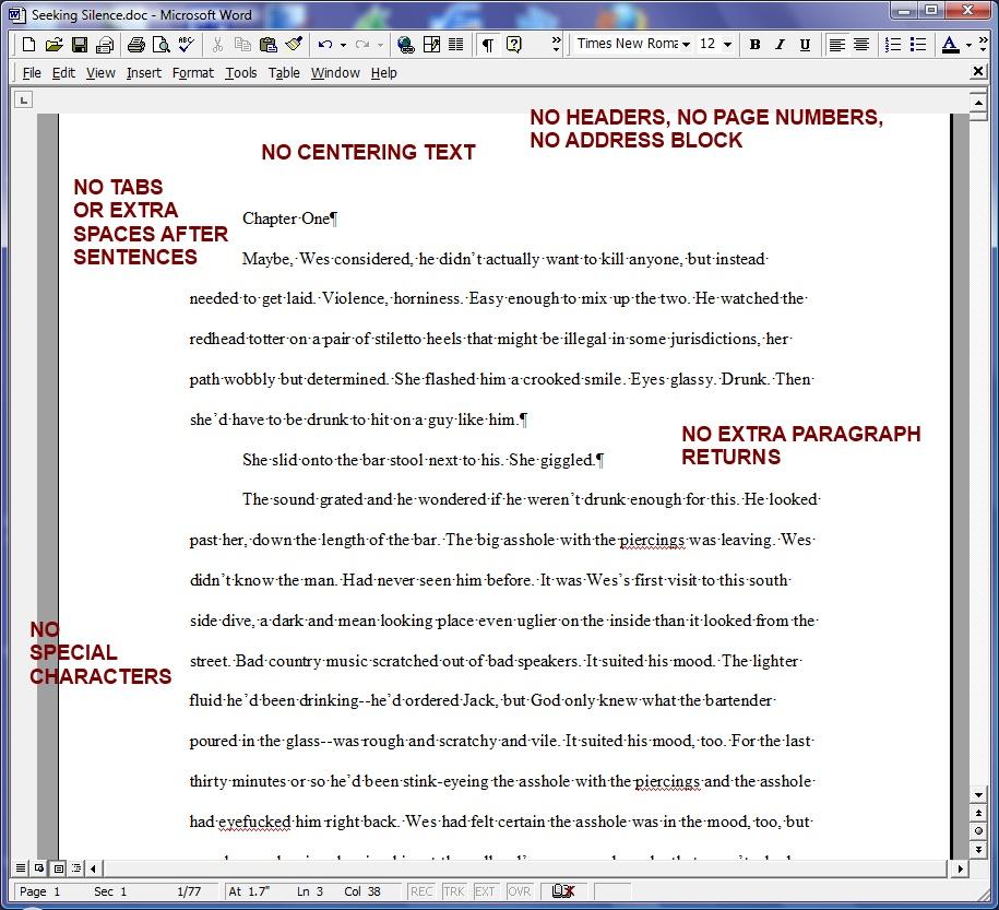 Academic paper format word