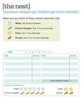 cute find food journal jWondesign