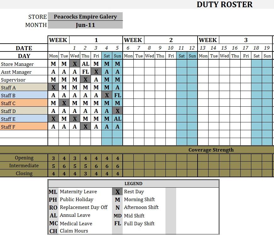 Duty Roster \u2013 Best Ways to Plan and Manage J-WorQProjeQs
