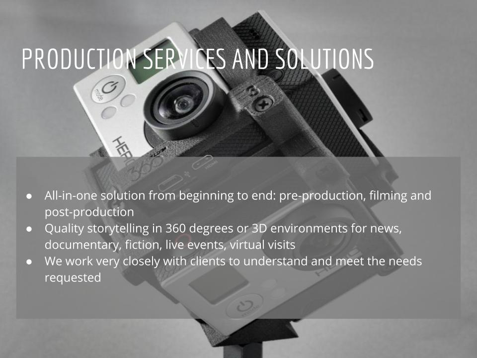 Virtual Reality Production Studio JYC VR Production Services Solutions