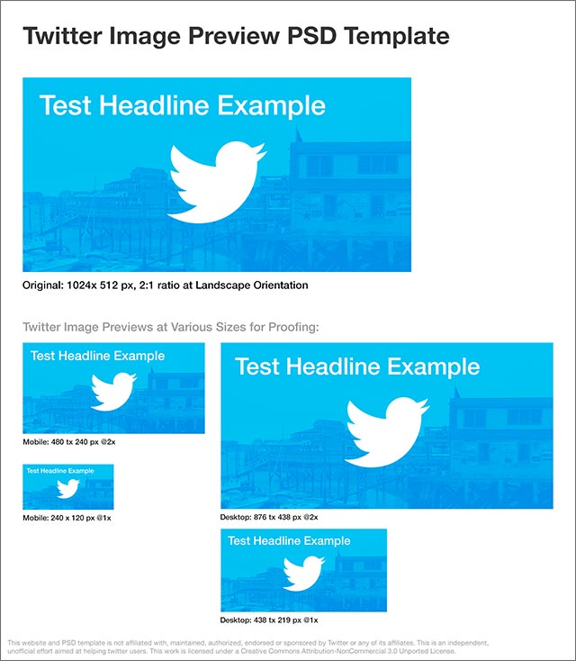 Twitter Image Preview PSD Template James Young @jydesign - twitter template