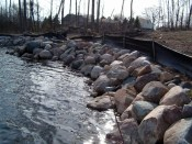 Boulder Sea Wall Construction MI