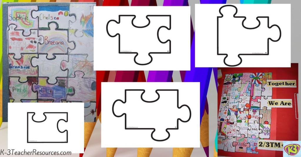 Printable Blank Jigsaw Puzzle Template - blank puzzle template