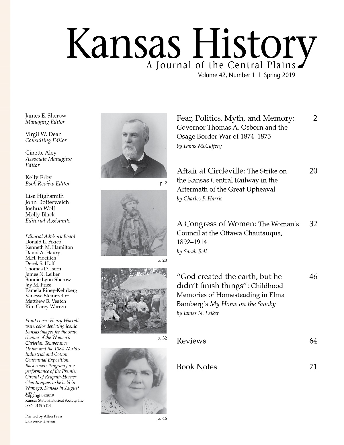O History S Kansas History Journal Of The Central Plains