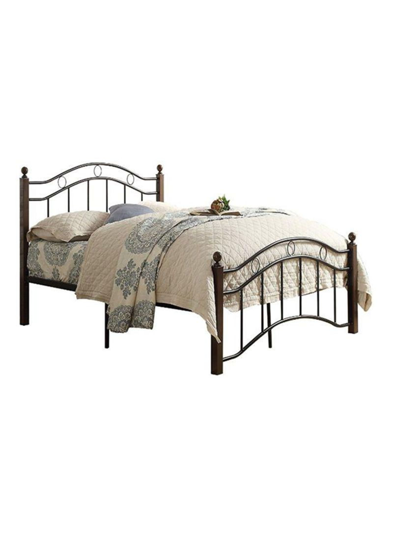 Bed 120 X 190 Shop Ae Single Wooden Steel Bed With Medicated Mattress Multicolour 120x190 Centimeter Online In Dubai Abu Dhabi And All Uae