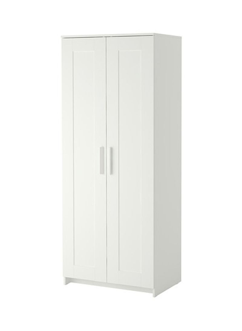 Shop Ikea Double Door Wardrobe White 78x190x50centimeter Online In - Ikea Wardrobe Ksa