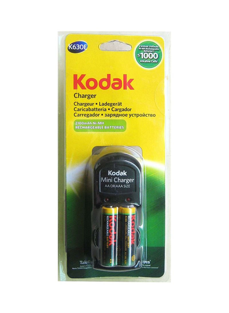 Shop Kodak Mini Battery Charger With 2 Batteries Multicolour Online In Dubai Abu Dhabi And All Uae