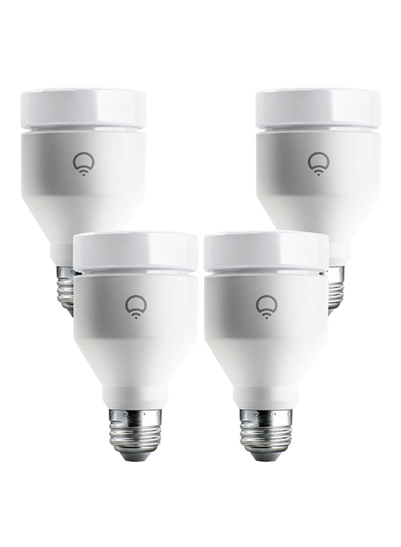 Smart Led Bulb Shop Lifx Pack Of 4 Wi Fi Smart Led Light Bulbs White 75 Watts Online In Dubai Abu Dhabi And All Uae
