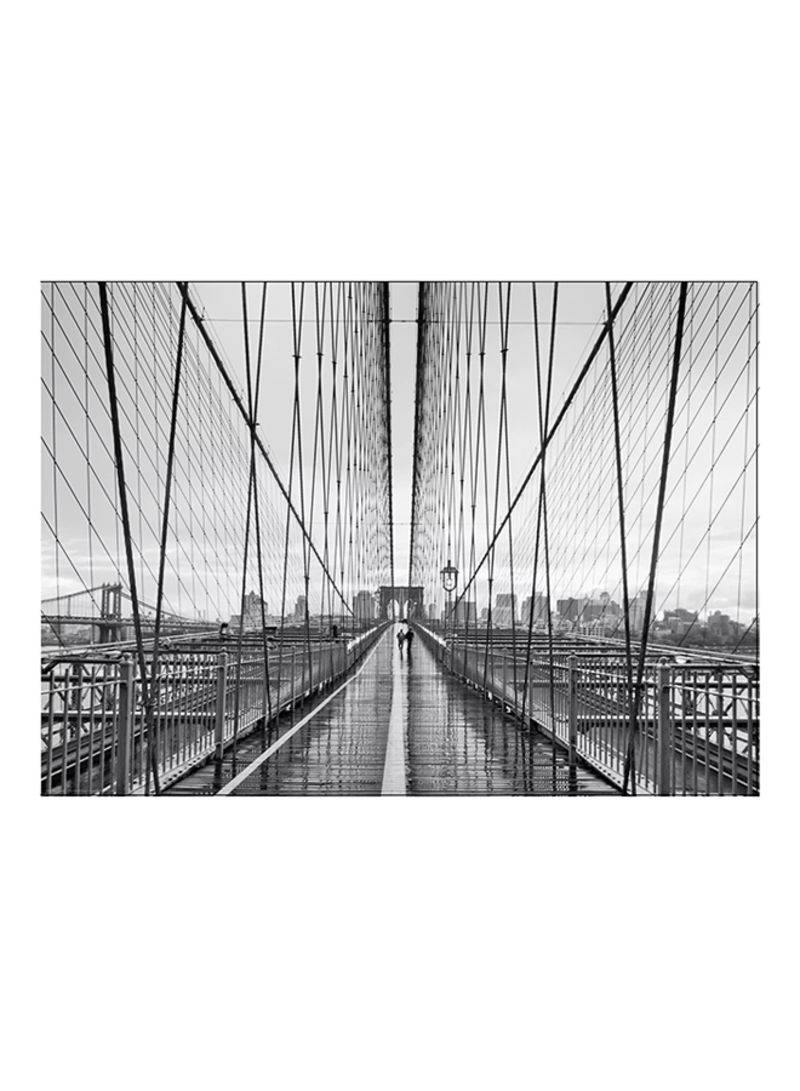 Ikea Poster Shop Ikea Bild Walking On Brooklyn Bridge Wall Poster Grey Black White 70x50 Cm Centimeter Online In Riyadh Jeddah And All Ksa