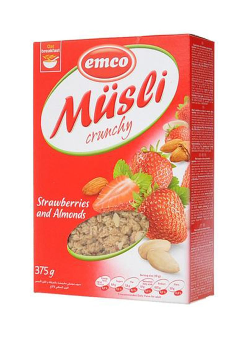 Müsli Crunchy Shop Emco Crunchy Muesli With Strawberries And Almonds 375 G Online In Dubai Abu Dhabi And All Uae