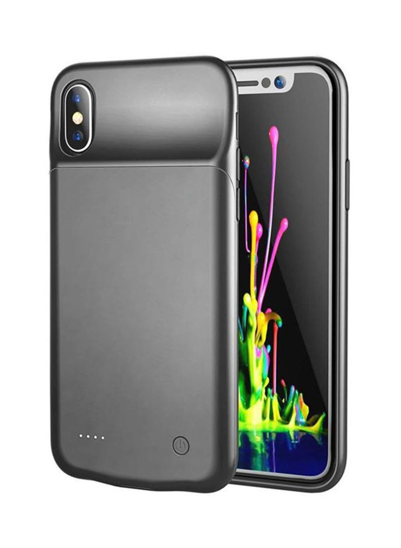 Battery Case For Iphone X Shop Awei Battery Case Cover For Apple Iphone X 3200 Mah Black Online In Dubai Abu Dhabi And All Uae