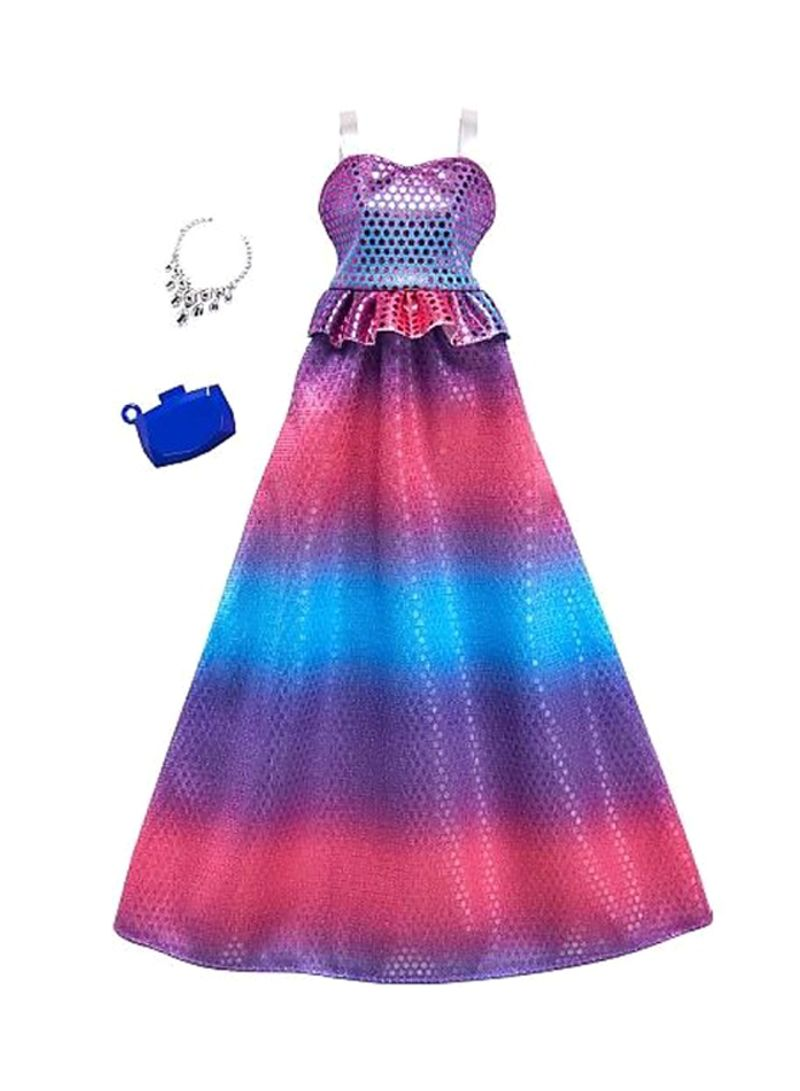 Ombre Abu Abu Shop Barbie Complete Look Ombre Gown Set Online In Dubai Abu