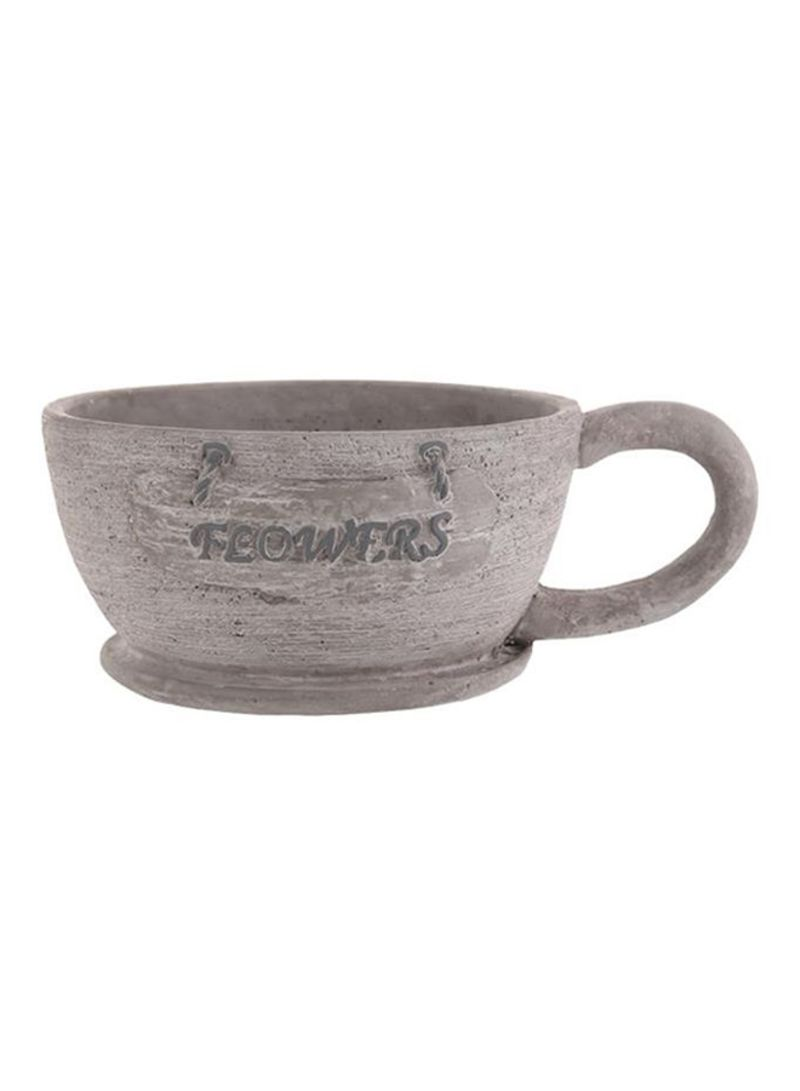 Large Tea Cup Planter Shop Living Space Ceramic Tea Cup Planter Grey Large Online In