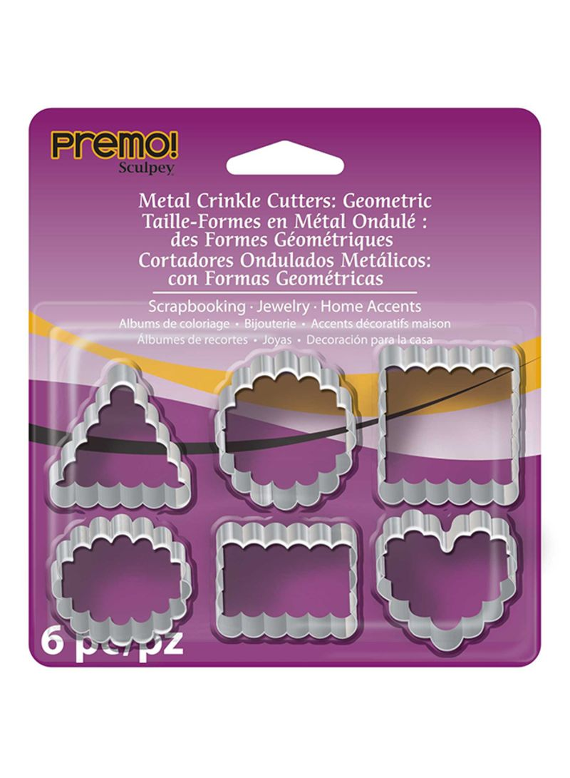 Casa Decoracion Shop Online Shop Sculpey Pack Of 6 Metal Crinkle Cutters Online In Egypt