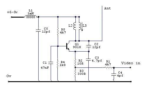 Miniature UHF Video Transmitter  - Richard Warwick