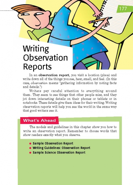 25 Writing Observation Reports Thoughtful Learning K-12