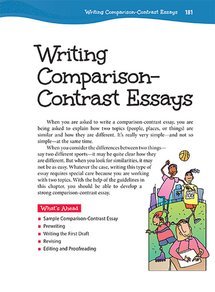 25 Writing Comparison-Contrast Essays Thoughtful Learning K-12