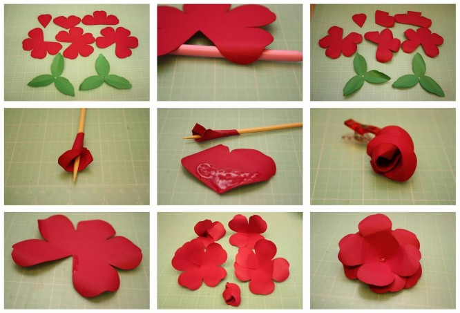 Diy Easy Flower Making Step By Step Tutorial K4 Craft