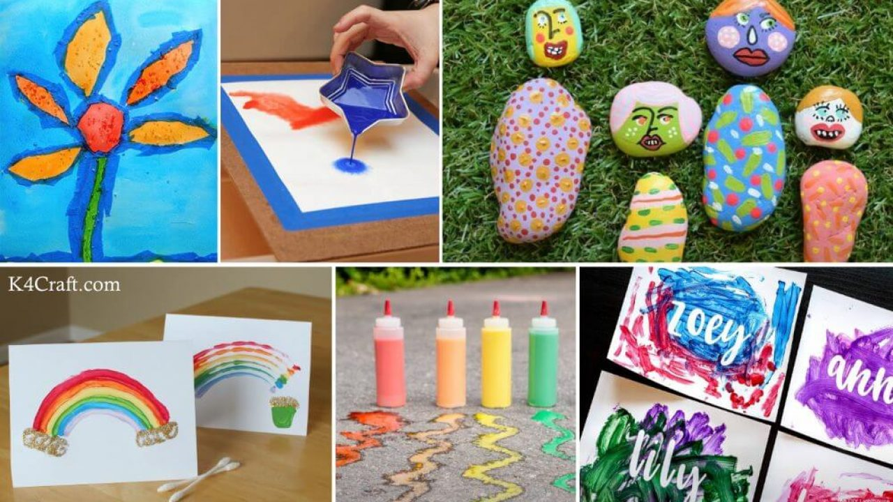 29 Fun Painting Ideas For Kids K4 Craft