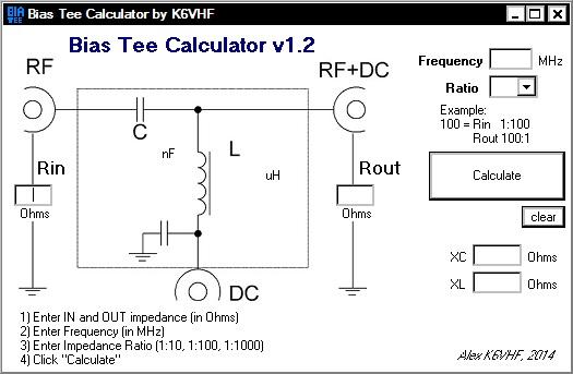 Bias Tee Calculator
