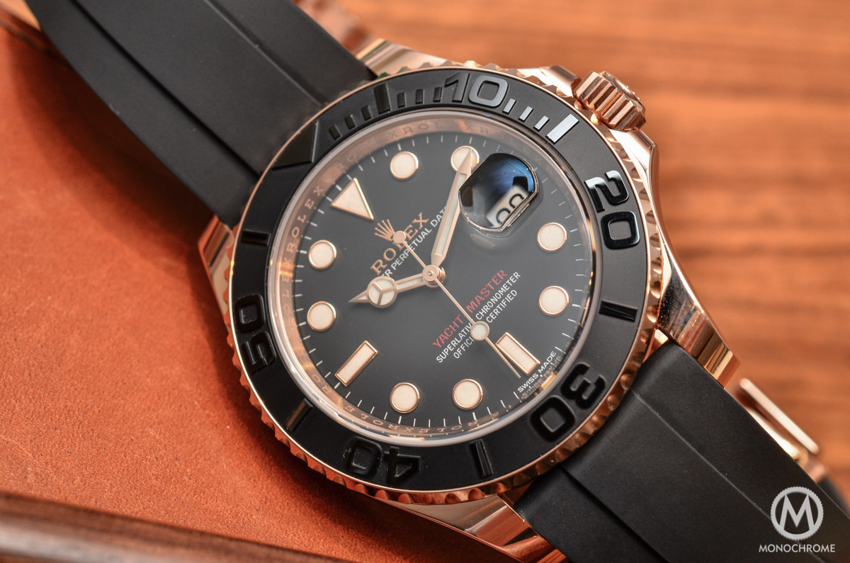 Rolex Rubber Hands On With The Rolex Yacht Master 116655 Everose Gold On