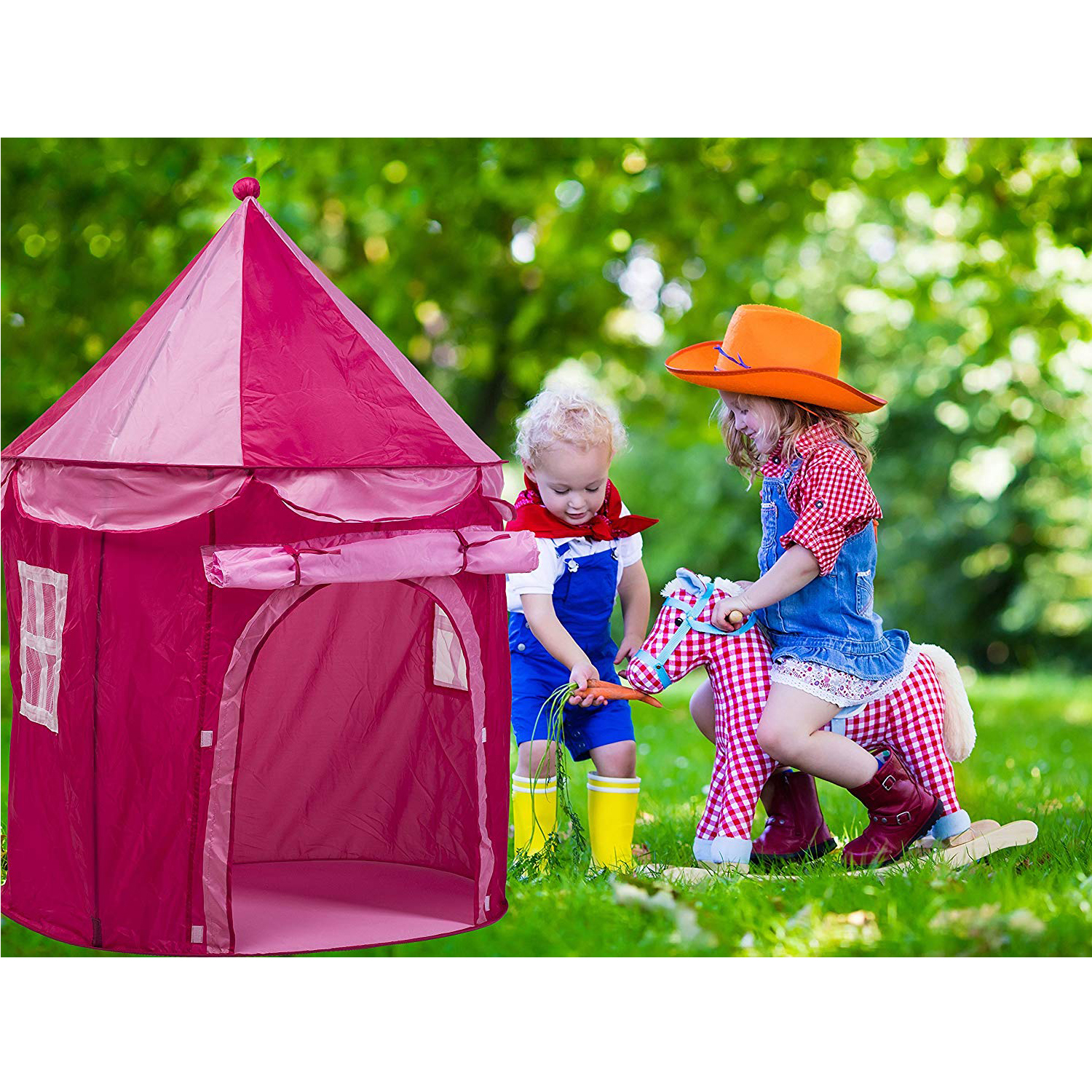 Kids Play Tent Kids Play Tent Princess Castle Foldable Indoor Outdoor Tent Girls Playhouse Pink