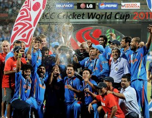 India as World Cup Champions in 2011            Courtesy : Internet