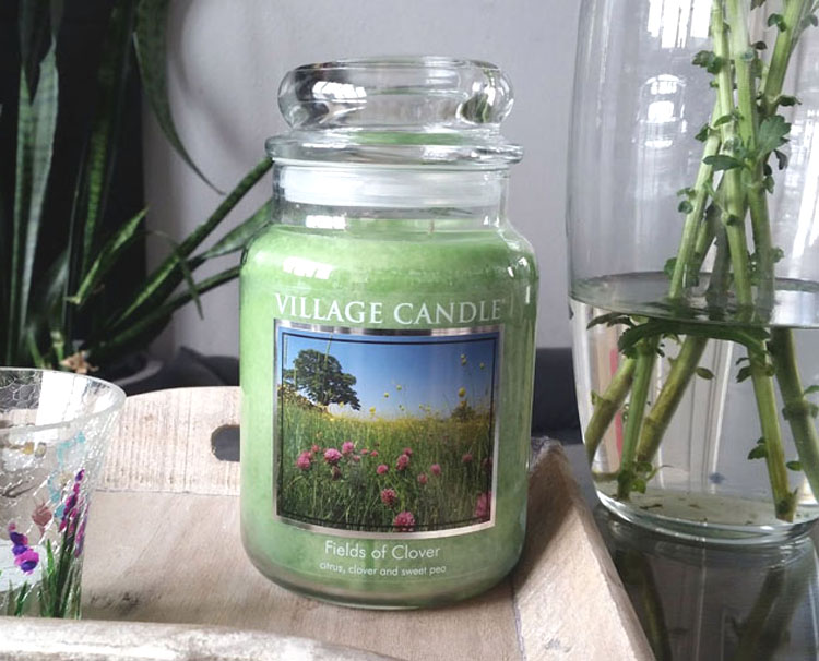 Village Candle Fields of Clover