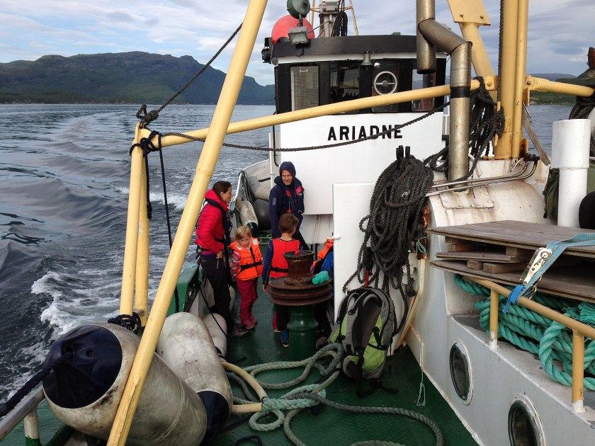 Ombord på Ariadne.