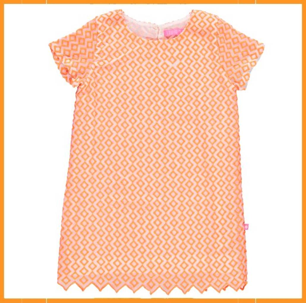 Huisdecoratie Spelletjes Lebig Embroidery Dress Oranje Kaat Andco