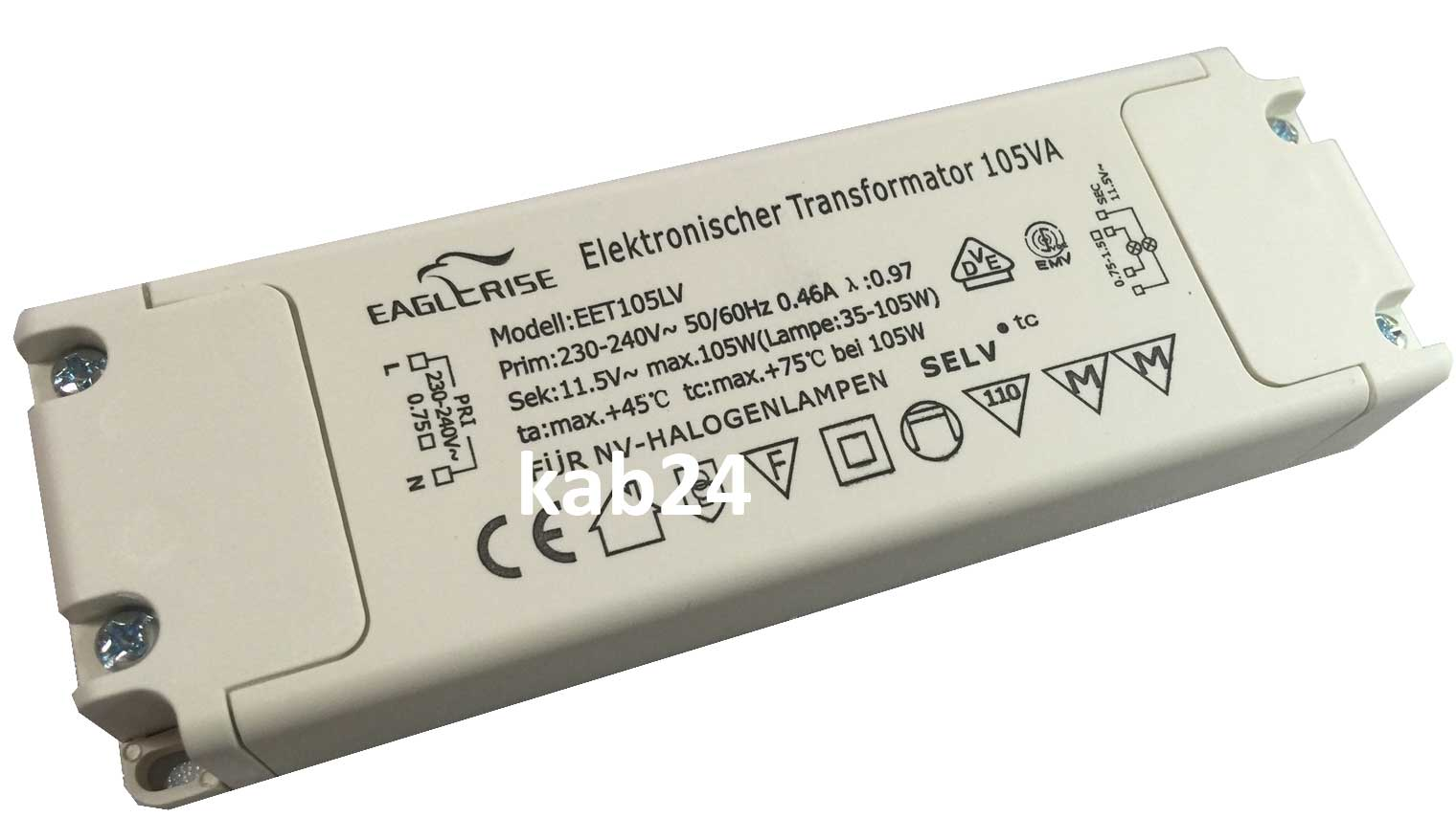 Elektronischer Transformator Eaglerise Eet105lv Halogen Transformator 35 105 Watt