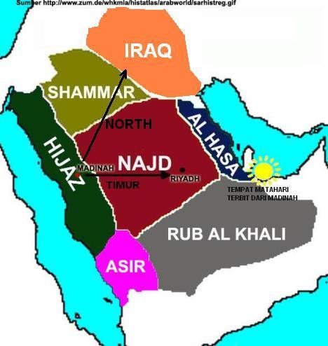 Map of Najd