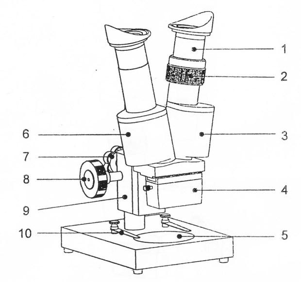 Konstruksi mikroskop BMK 36
