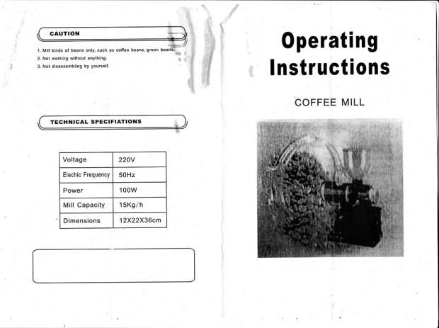 Manual penggiling kopi Fomac COG-HS600