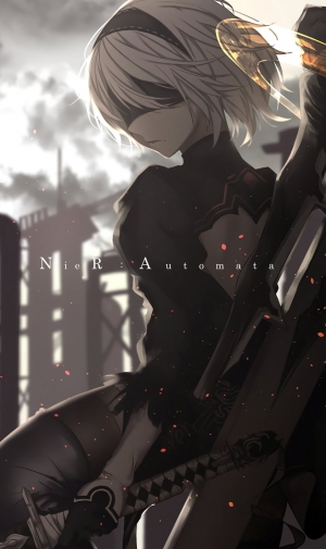 3d Wallpaper For Iphone Se ニーア オートマタ Nier Automataのiphone壁紙 壁紙キングダム スマホ用
