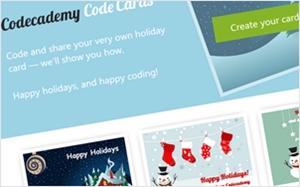 HTMLで作るクリスマスカードのコード例を紹介する・Codecademy Code Cards