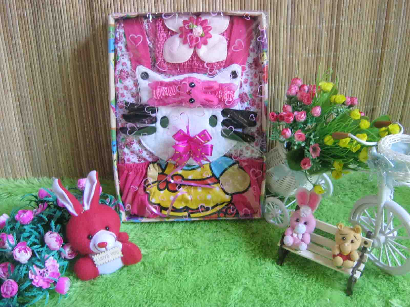 Serba Hello Kitty Paket Kado Bayi Dress Hello Kitty Pink Cantik Jual Kado Bayi