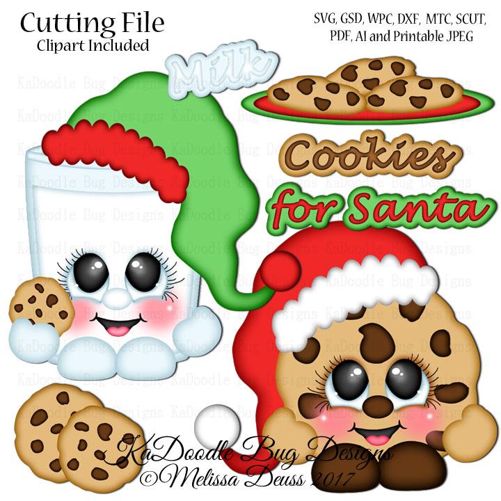 Shoptastic Cuties - Cookie and Milk Cutie SVG CUT FILE PAPERPIECING