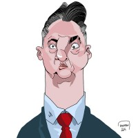Louis Van Gaal caricature