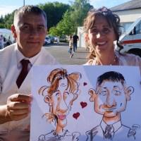 Mariage de Pascal et Dominique en caricature, Saint-Ouen-en-Belin