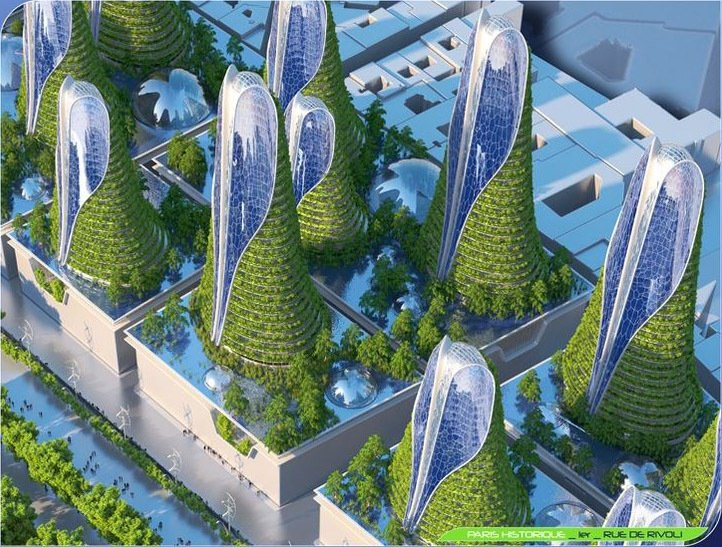 Futuristic smart city vision of paris in 2050 by ar for Architecture 2050