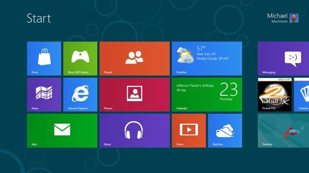 Windows 8 kasutajaliides